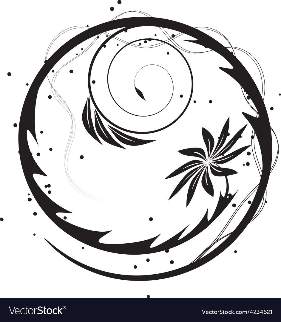 Blooming circle vector | Price: 1 Credit (USD $1)