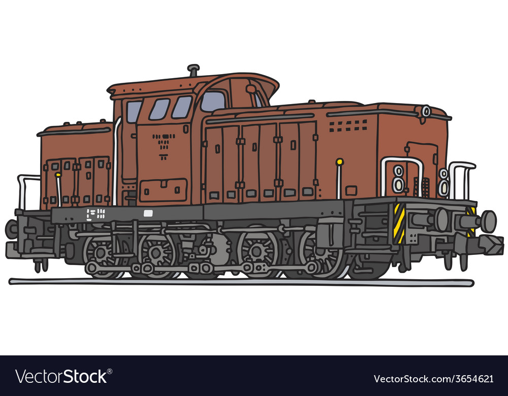 Diesel locomotive vector | Price: 1 Credit (USD $1)