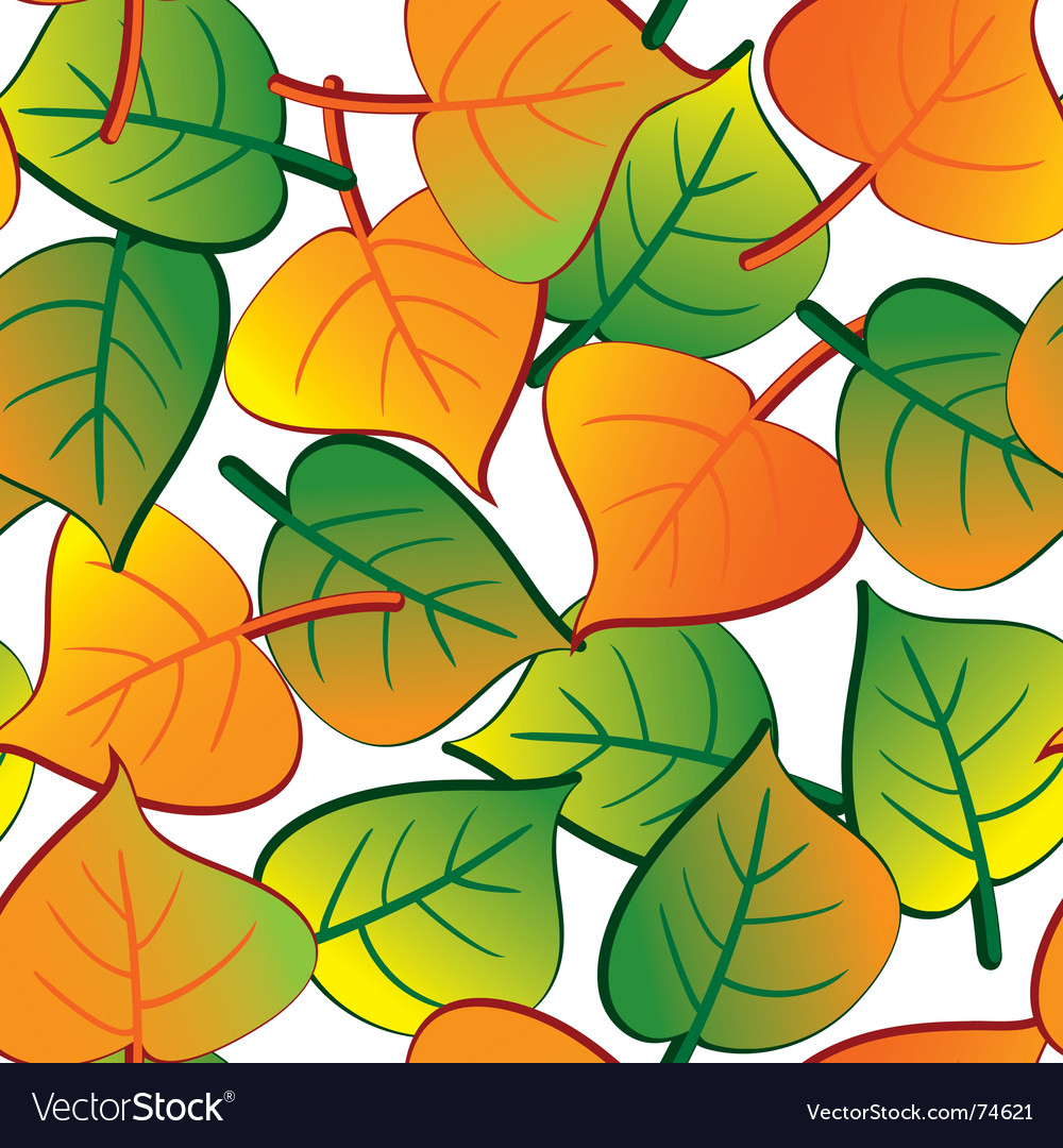 Leaf seamless background vector | Price: 1 Credit (USD $1)