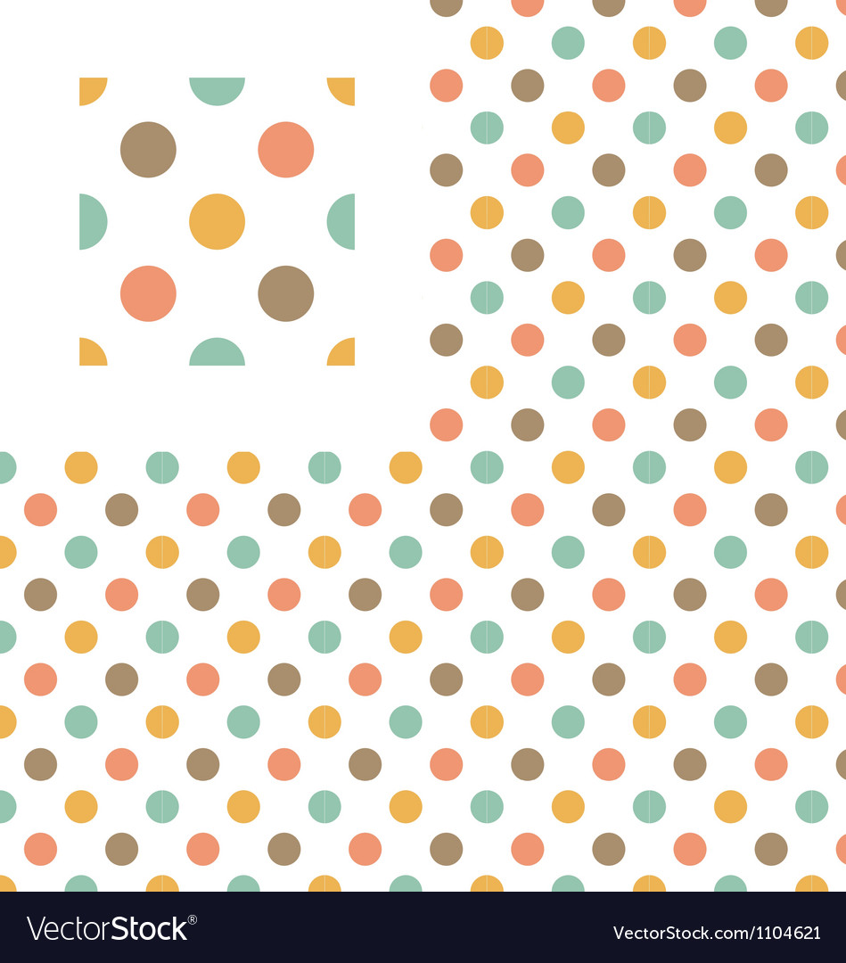 Multicolor polka dots geometric pattern swatch vector | Price: 1 Credit (USD $1)