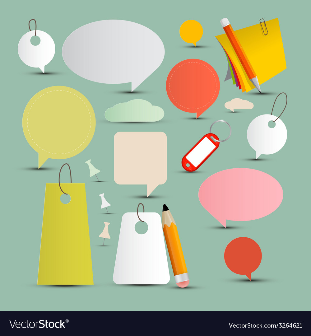 Objects and labels set vector | Price: 1 Credit (USD $1)