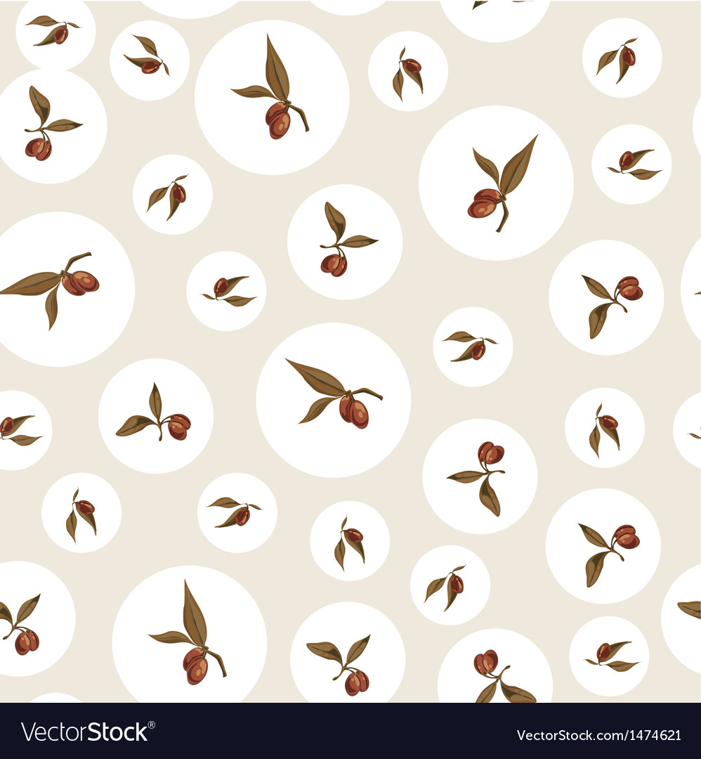 Vintage pattern with plums vector | Price: 1 Credit (USD $1)