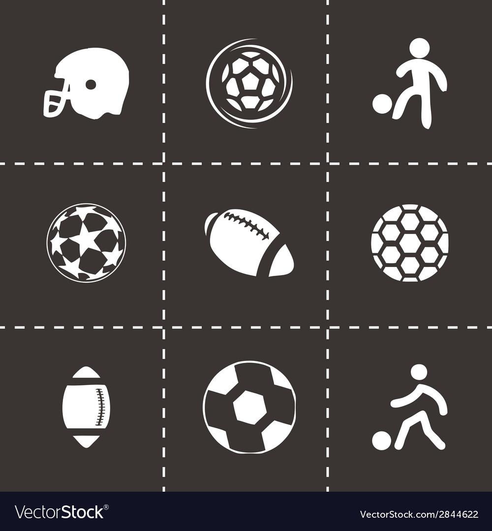 Black soccer icons set vector | Price: 1 Credit (USD $1)
