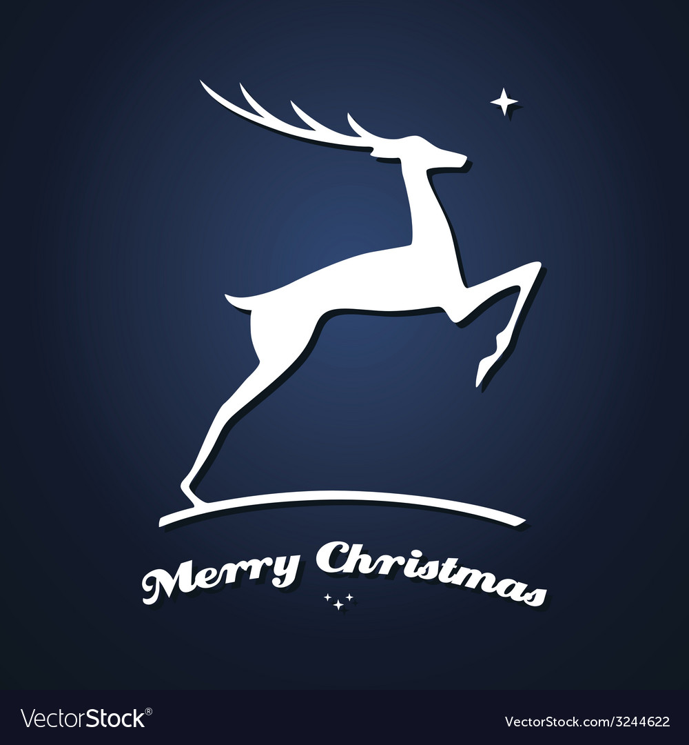 Deer christmas card vector | Price: 1 Credit (USD $1)