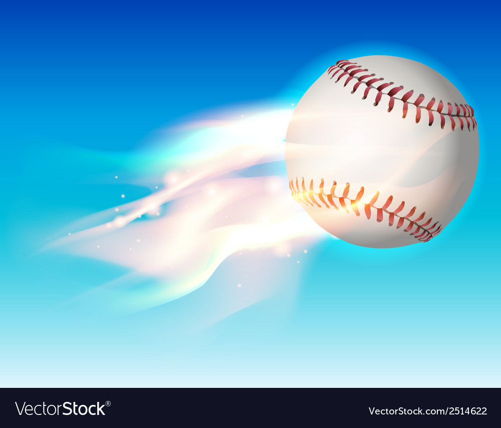 Fire baseball sky vector | Price: 1 Credit (USD $1)