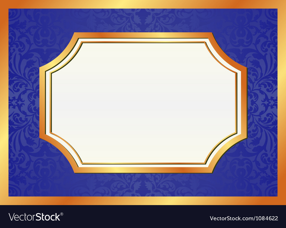Golden and blue background vector | Price: 1 Credit (USD $1)