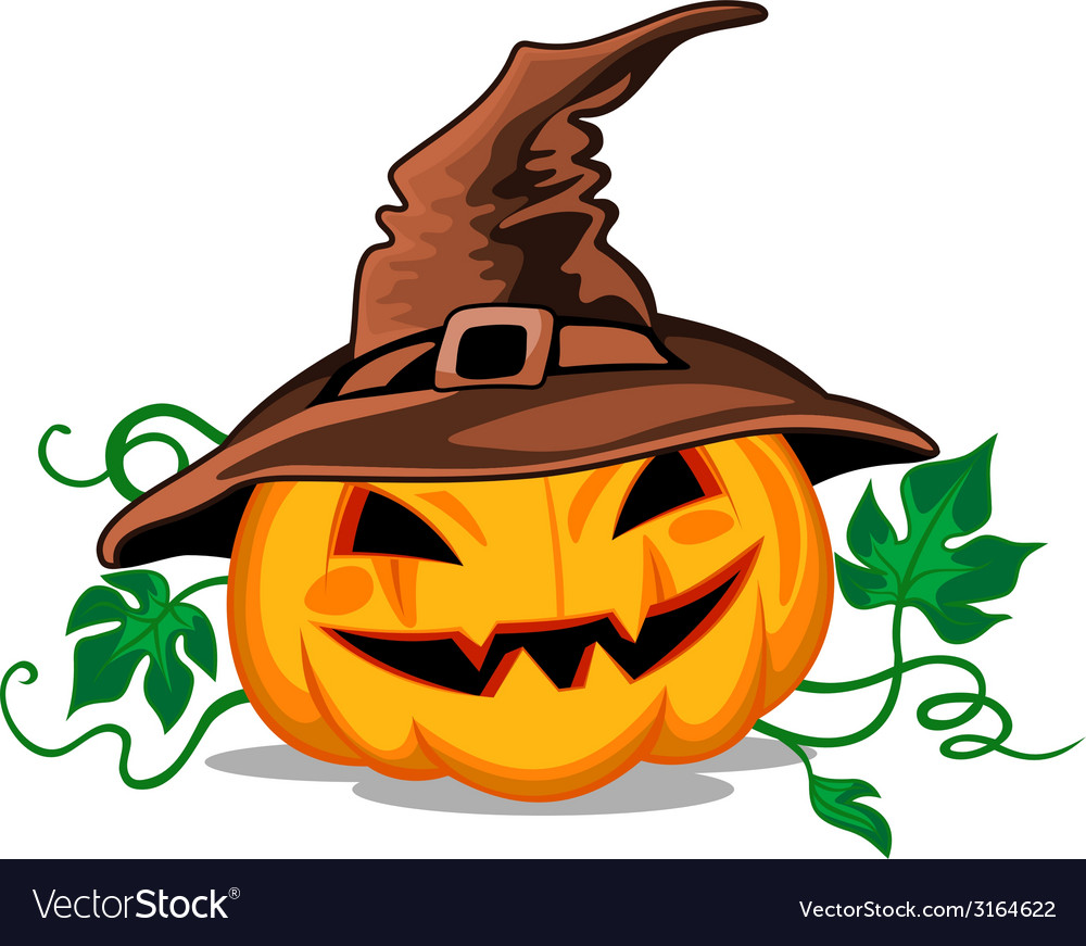 Halloween pumpkin in heat vector | Price: 1 Credit (USD $1)