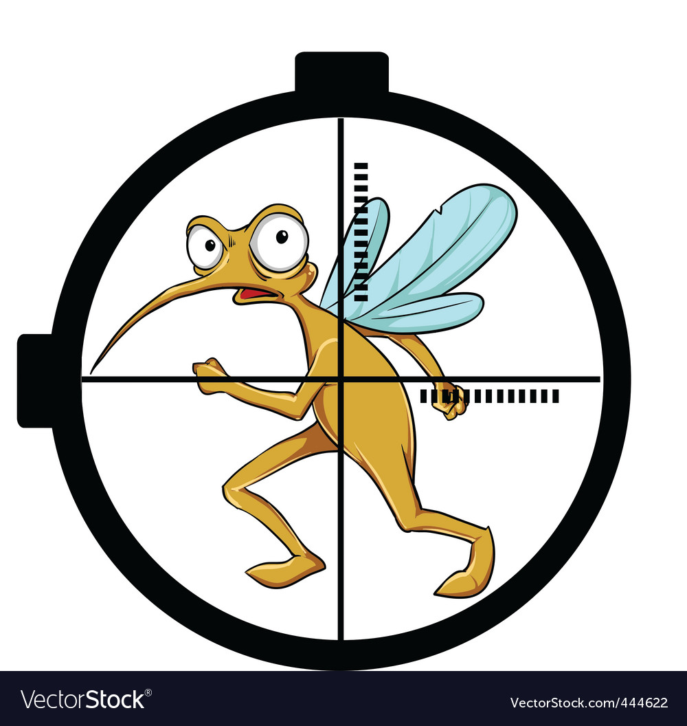 Mosquito on target vector | Price: 1 Credit (USD $1)