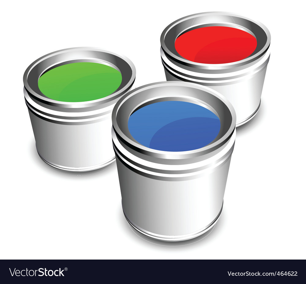 Paint buckets vector | Price: 1 Credit (USD $1)