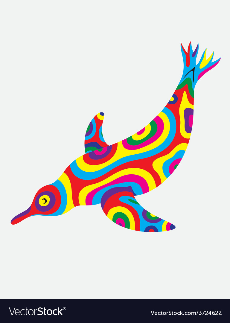Penguin abstract colorfully vector | Price: 1 Credit (USD $1)