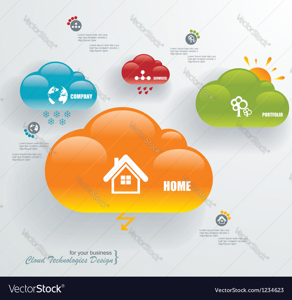 Cloud computing technology connectivity concept vector | Price: 1 Credit (USD $1)