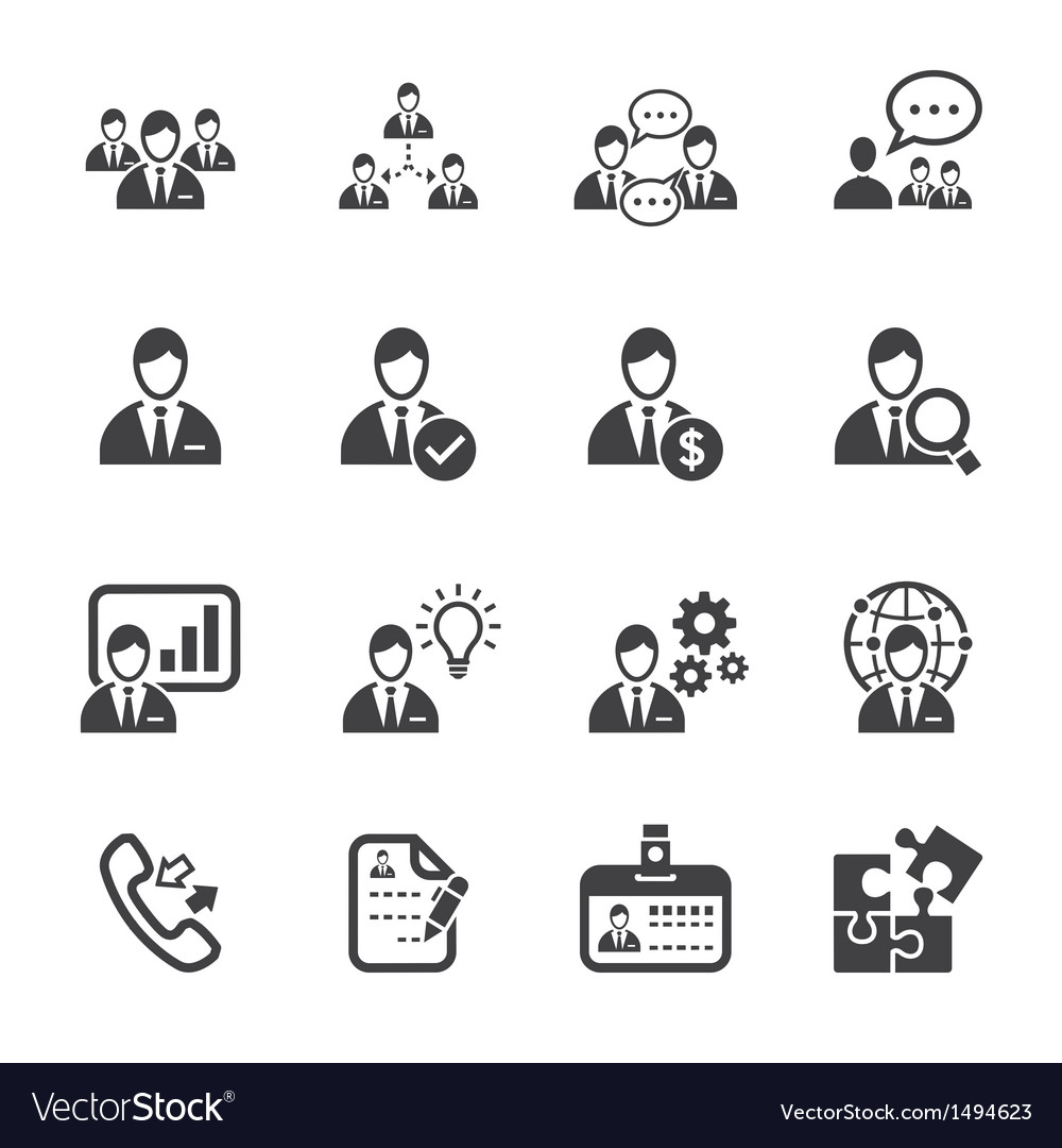 Management and human resource icons vector | Price: 1 Credit (USD $1)