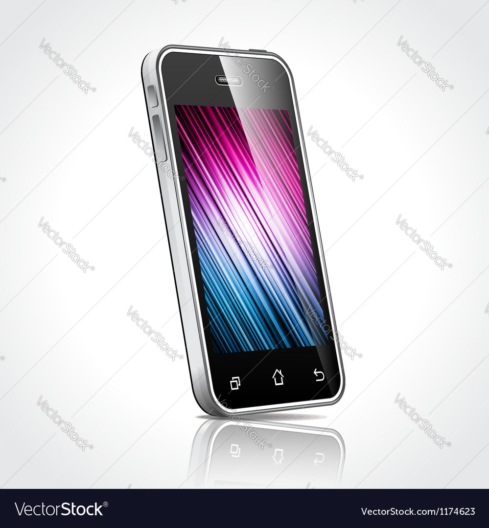 Shiny mobile device vector | Price: 3 Credit (USD $3)
