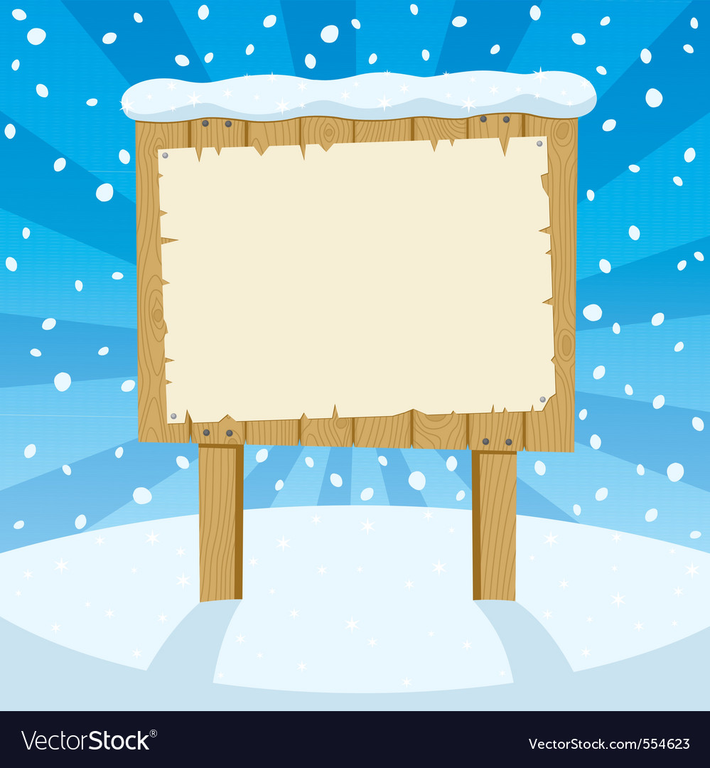 Sign and snow vector | Price: 1 Credit (USD $1)