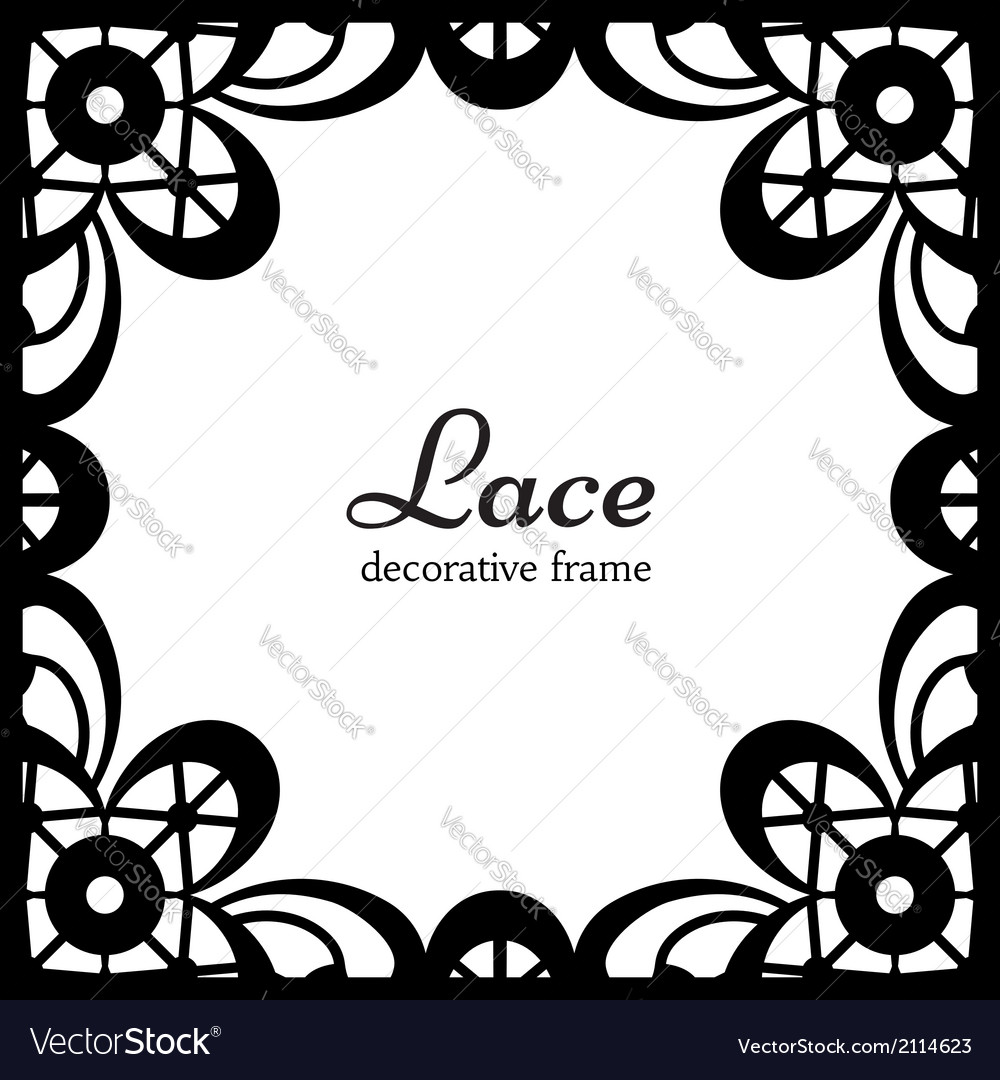 Square lace frame vector | Price: 1 Credit (USD $1)