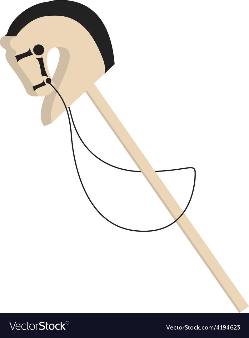 Stick horse vector | Price: 1 Credit (USD $1)