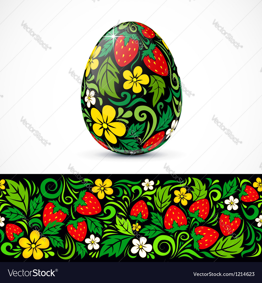 Traditional ornate easter eggs sticker design vector   Price: 1 Credit (USD $1)