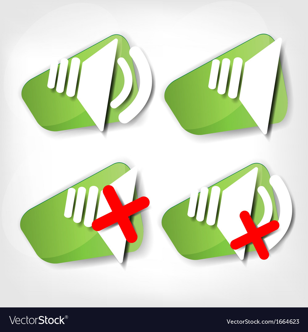 Web sound icon vector | Price: 1 Credit (USD $1)