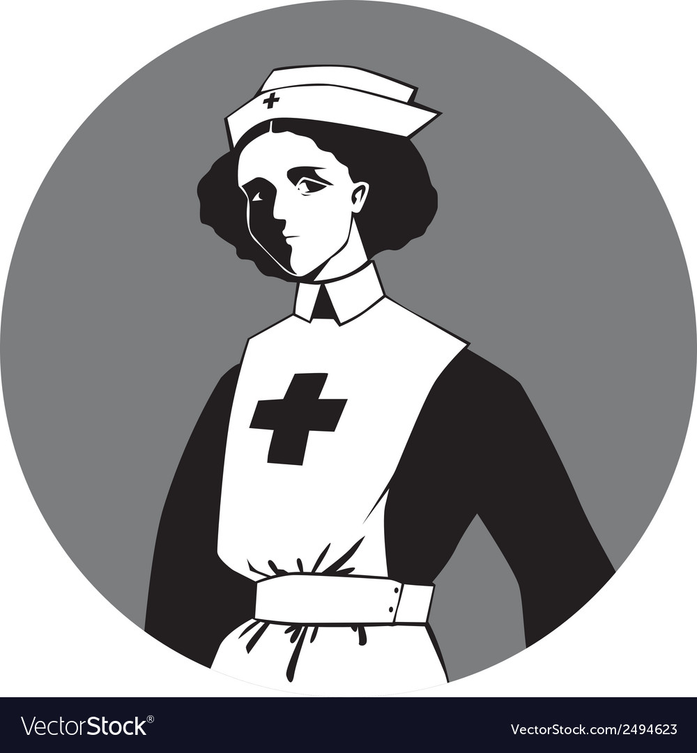 World war one nurse clipart vector | Price: 1 Credit (USD $1)
