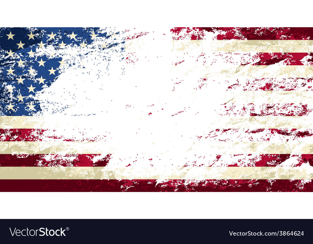 American flag grunge background vector | Price: 1 Credit (USD $1)