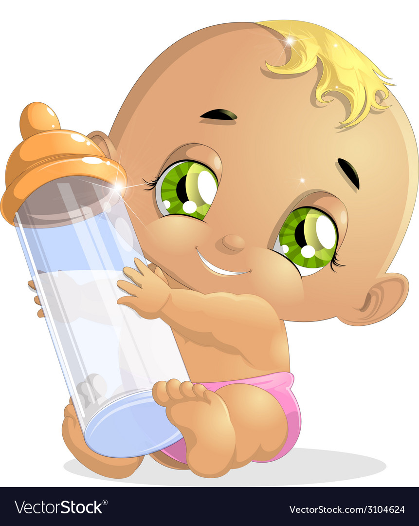 Baby and milk3 vector | Price: 1 Credit (USD $1)