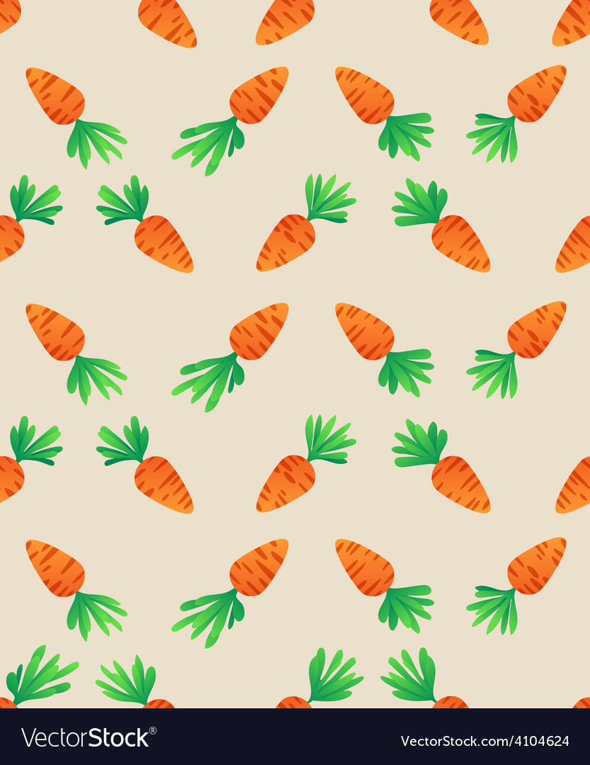 Carrot seamless pattern carrots for bunny vector | Price: 1 Credit (USD $1)