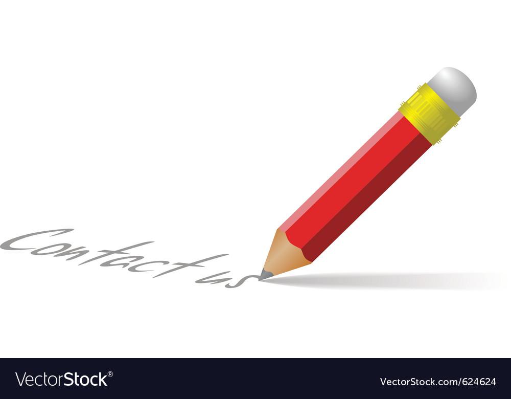 Contact us pencil vector | Price: 1 Credit (USD $1)
