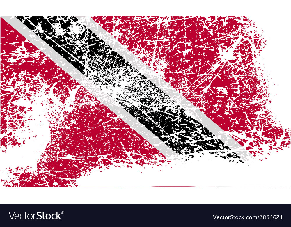 Flag of trinidad and tobago with old texture vector | Price: 1 Credit (USD $1)