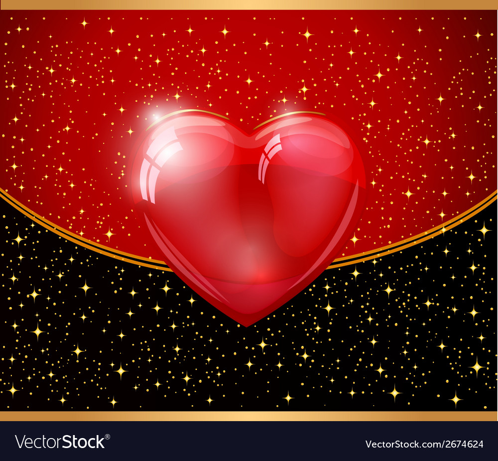 Red heart and background vector   Price: 1 Credit (USD $1)