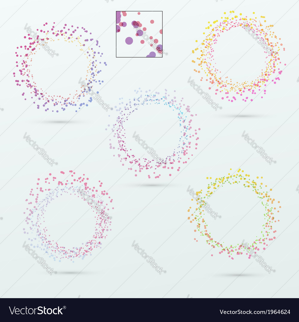 Round circle design elements collection vector | Price: 1 Credit (USD $1)