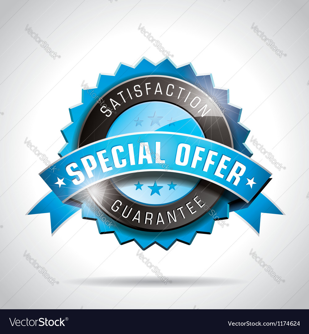 Special offer labels with shiny styled design vector | Price: 1 Credit (USD $1)