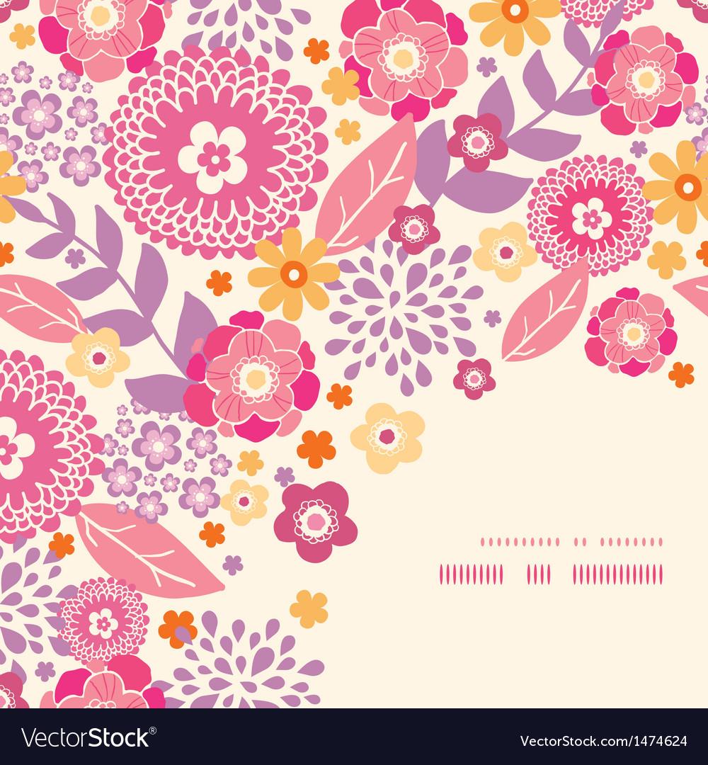 Warm summer plants corner frame pattern background vector   Price: 1 Credit (USD $1)