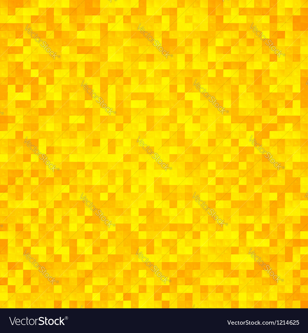 Abstract yellow pixel mosaic seamless background vector | Price: 1 Credit (USD $1)