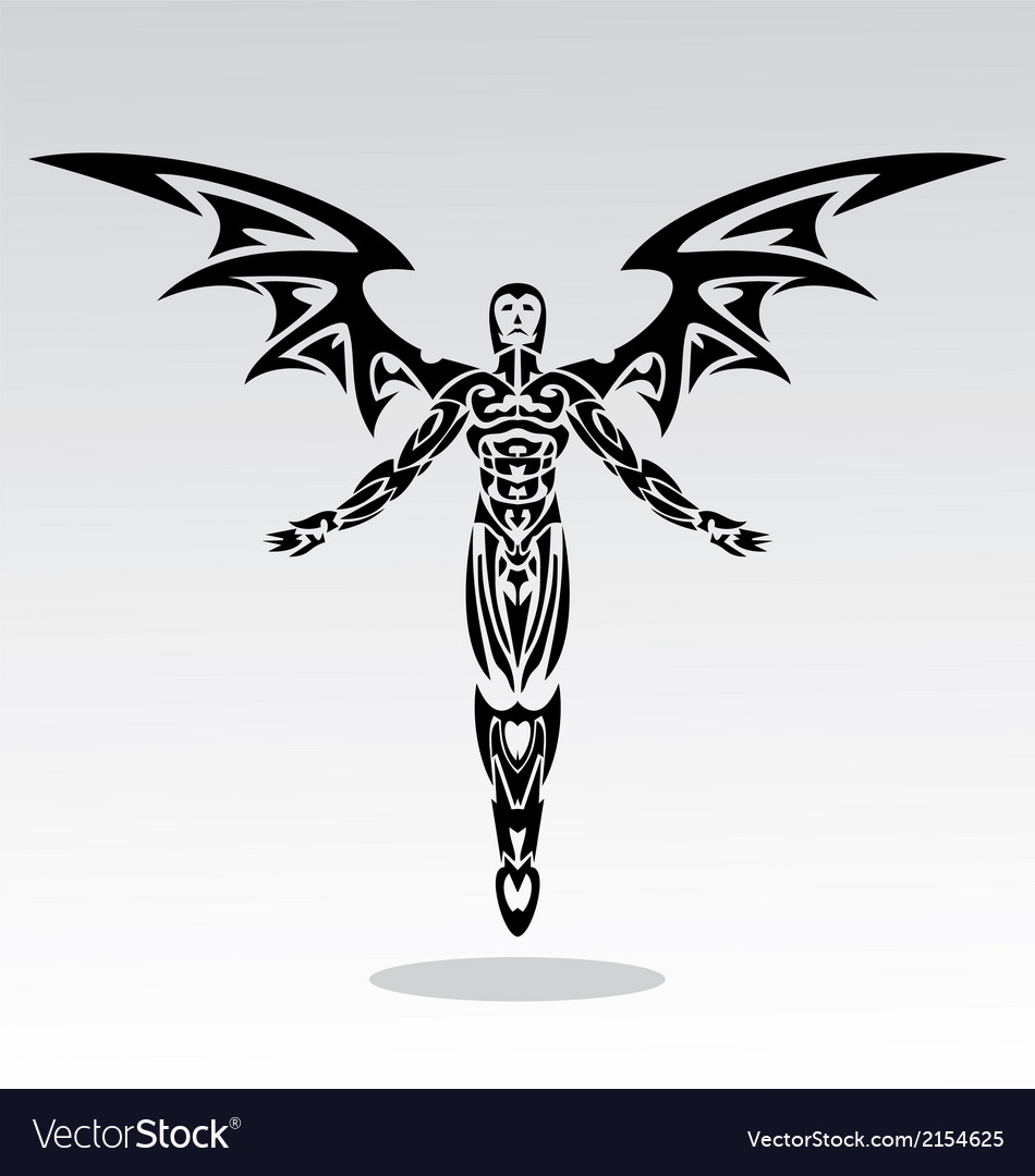 Angels tribal vector | Price: 1 Credit (USD $1)