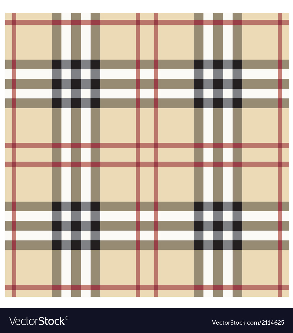 Beige seamless tartan pattern vector | Price: 1 Credit (USD $1)