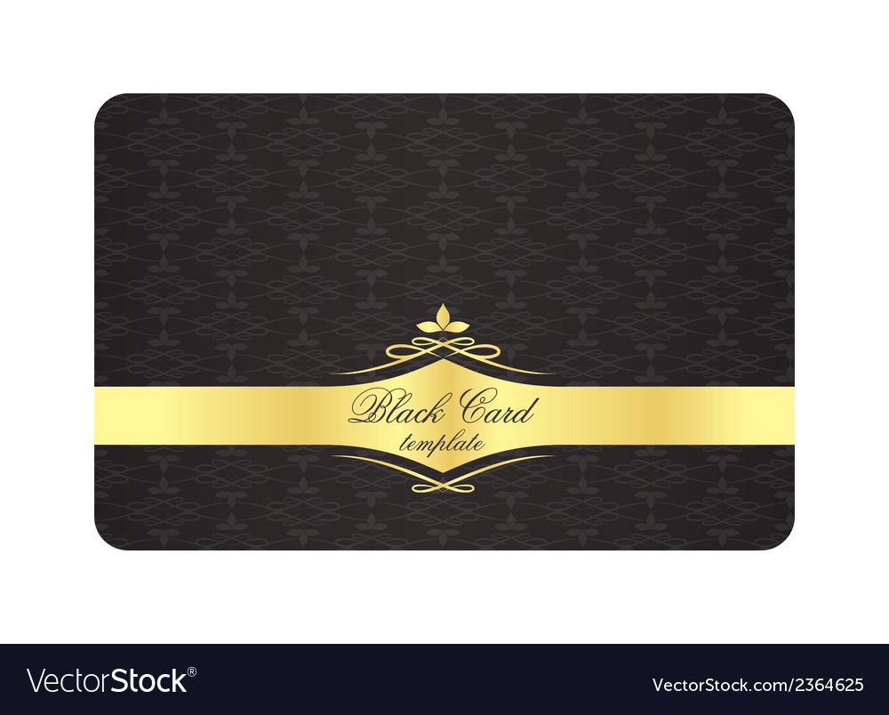 Black decorative card with vintage pattern and vector | Price: 1 Credit (USD $1)