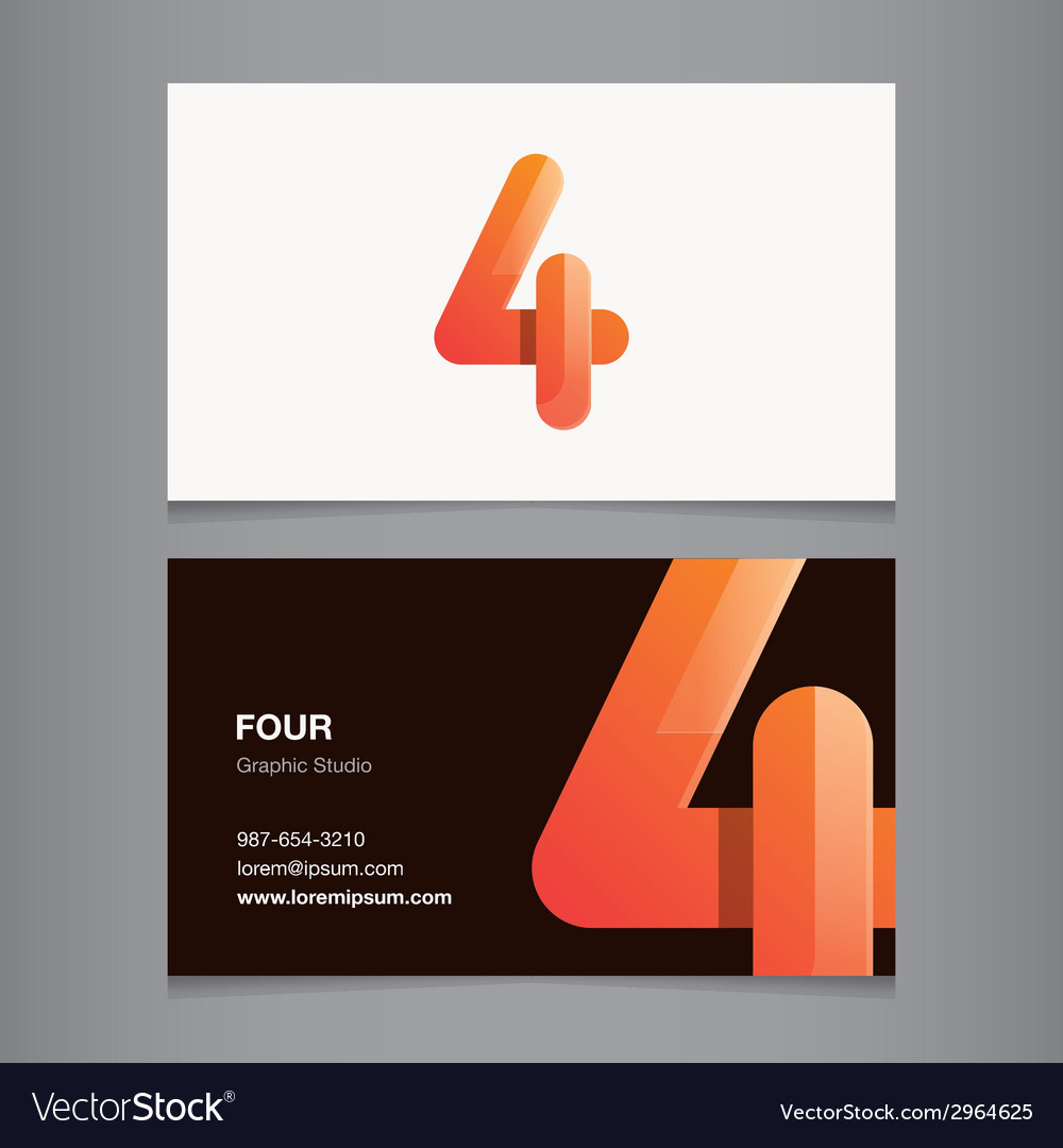 Business card number 4 vector | Price: 1 Credit (USD $1)