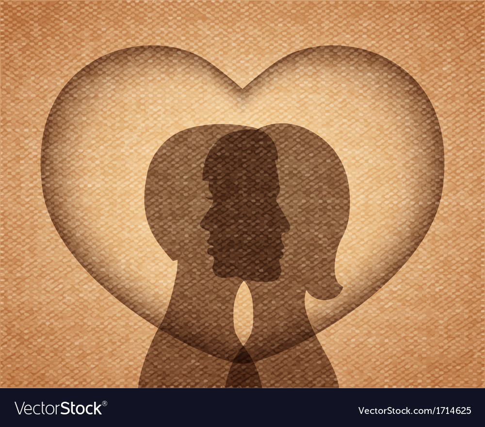 Couple in love silhouettes vector | Price: 1 Credit (USD $1)