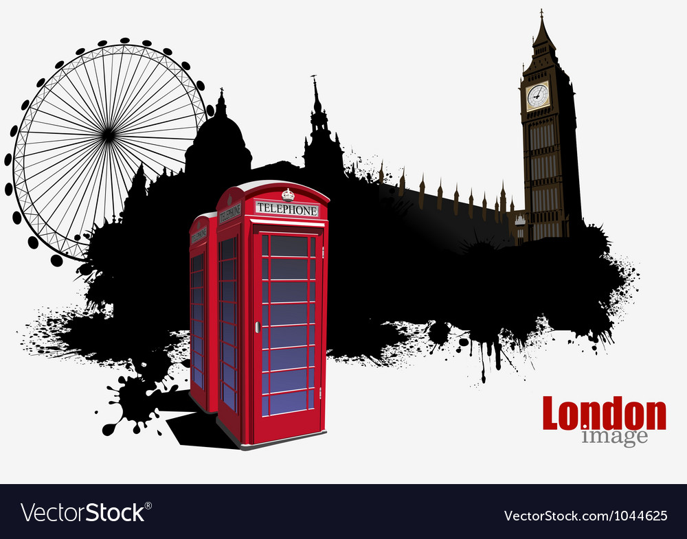 English telephone booth vector | Price: 1 Credit (USD $1)