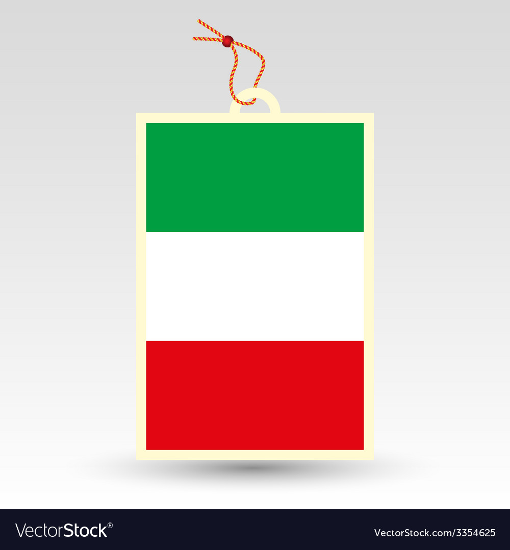 Italy tag vector | Price: 1 Credit (USD $1)