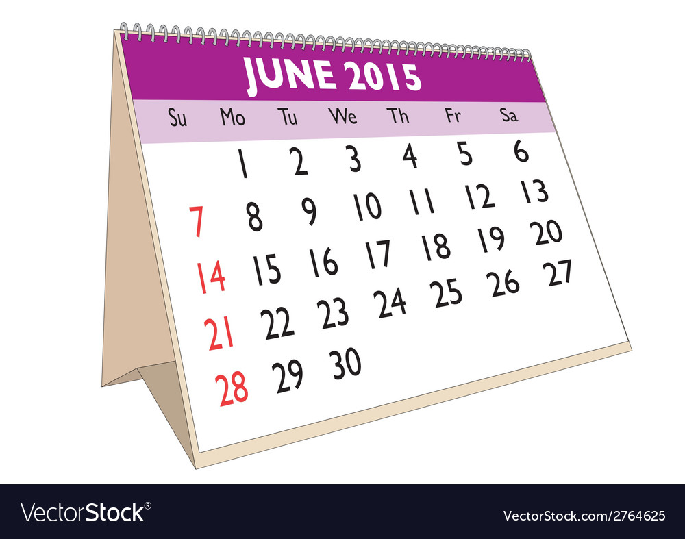 June 2015 vector | Price: 1 Credit (USD $1)