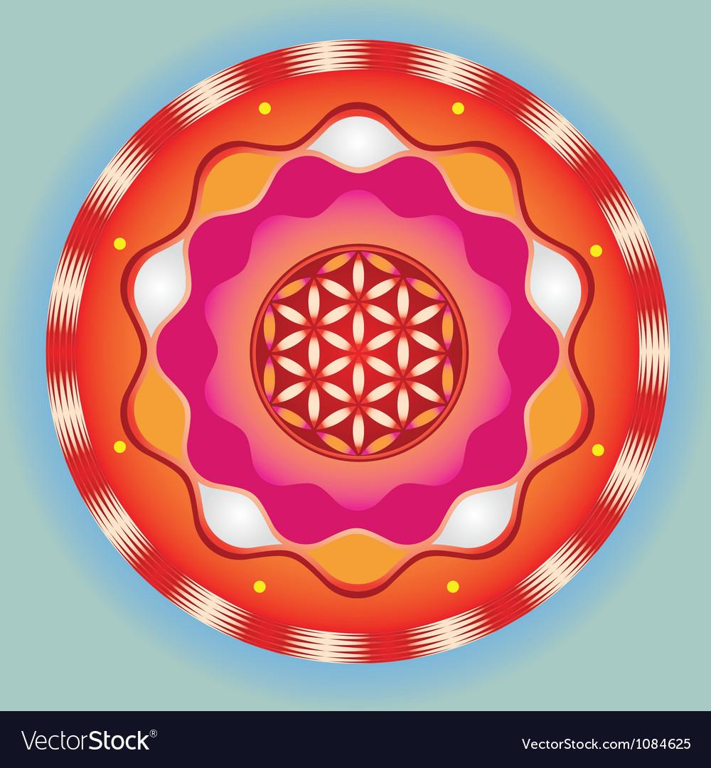 Life seed bright meditative sign vector   Price: 1 Credit (USD $1)