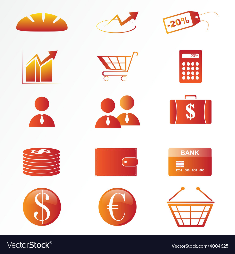 Market icon set vector | Price: 1 Credit (USD $1)