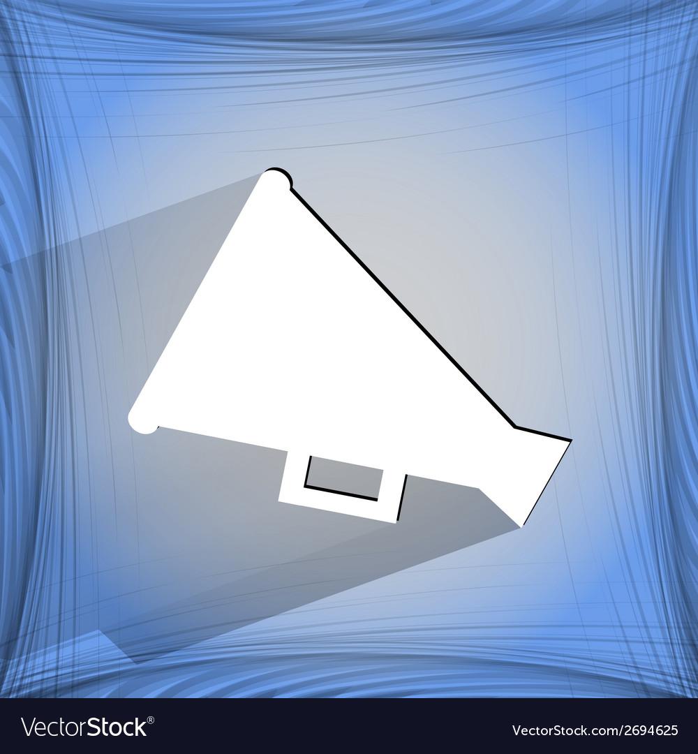 Megaphone loud-hailer icon on a flat geometric vector   Price: 1 Credit (USD $1)