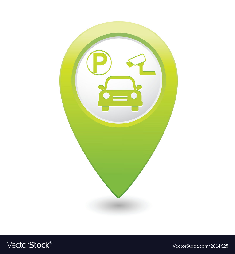 Parking place green map pointer vector | Price: 1 Credit (USD $1)