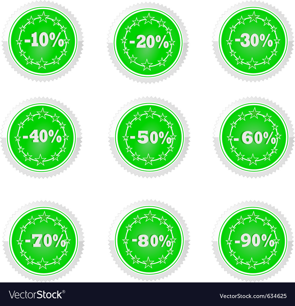 Percent and discounts vector | Price: 1 Credit (USD $1)