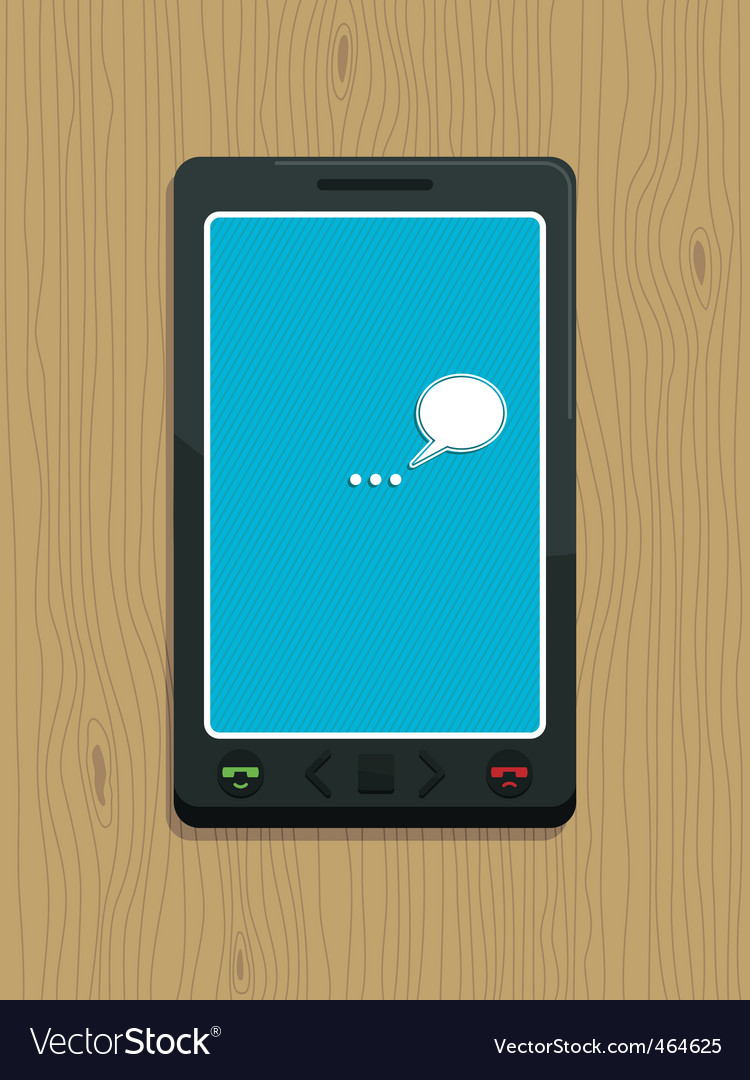 Smart phone on wood vector | Price: 1 Credit (USD $1)