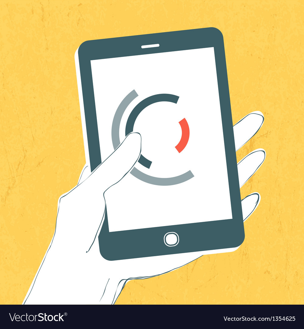 Smartphone in hand vector | Price: 1 Credit (USD $1)