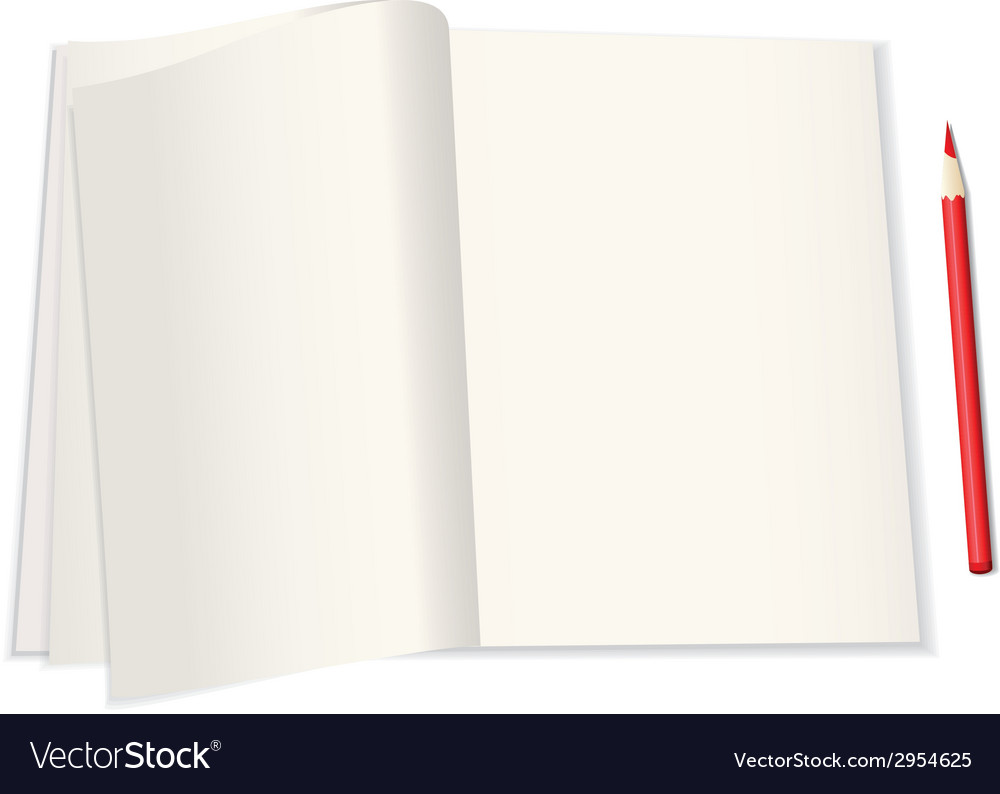 With a notebook vector | Price: 1 Credit (USD $1)