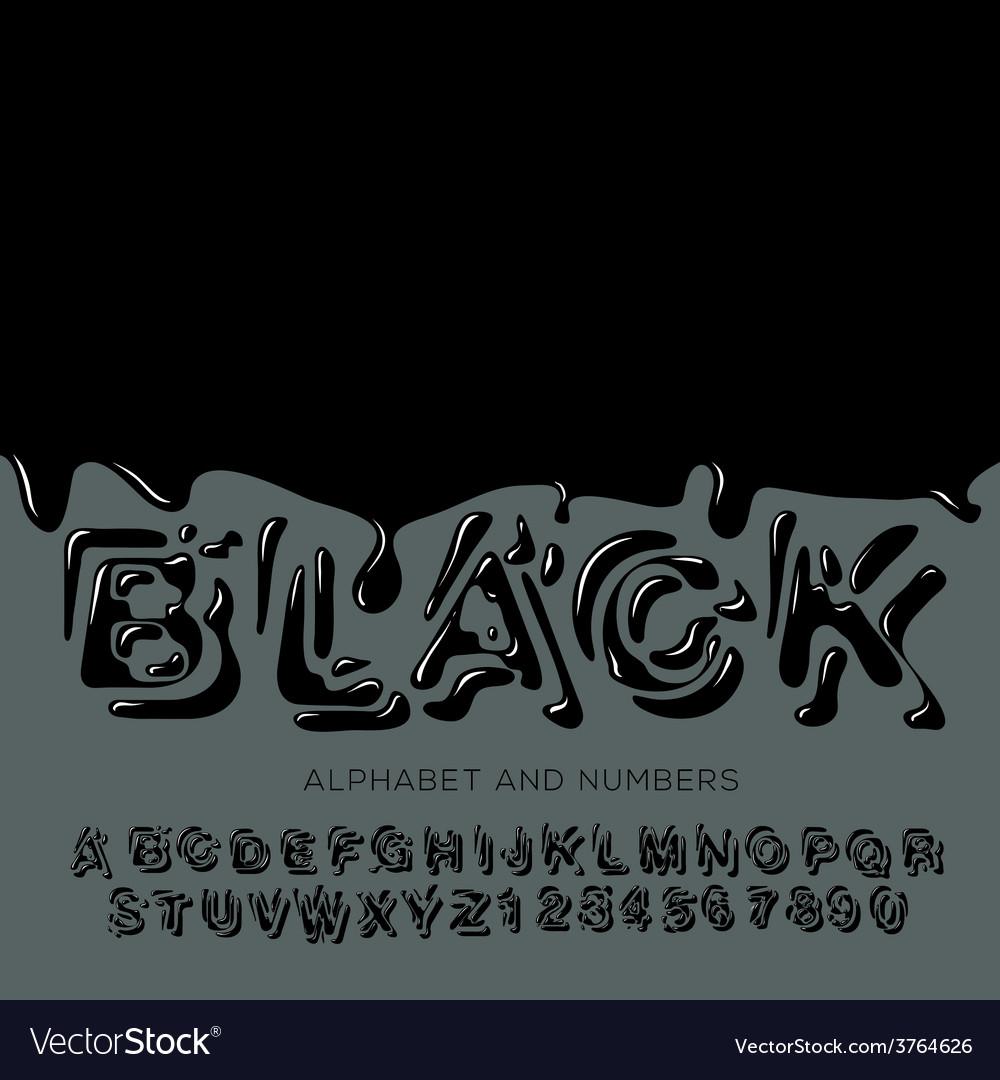Black oil painted alphabet vector | Price: 1 Credit (USD $1)